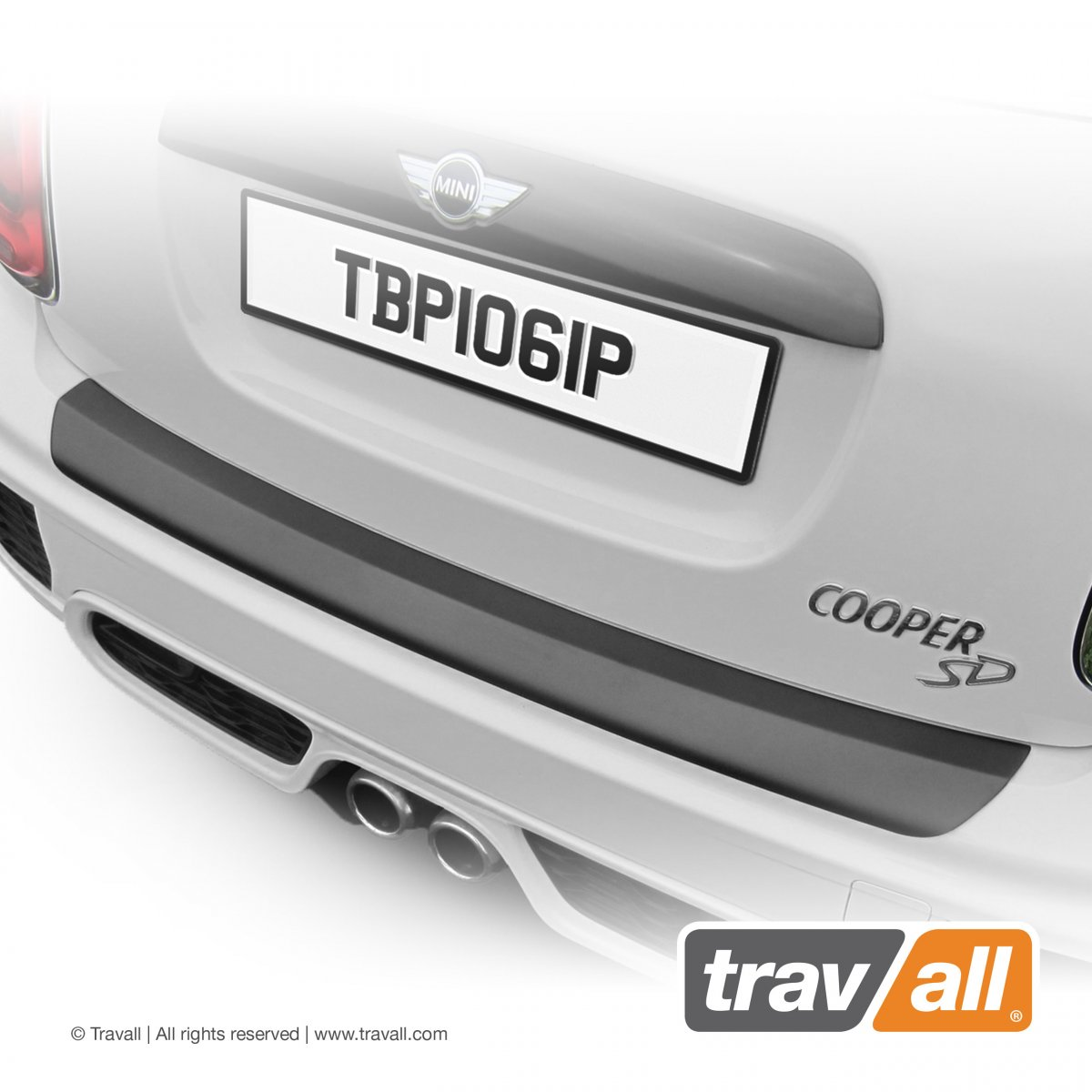 Travall® PROTECTOR-Plastic Smooth for Mini 5 Door (2013 >)